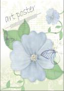 漂亮花朵简历封面